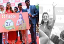 Grand Launch of HAPPI MOBILES at Hanumakonda Launching by Tollywood Actress Kajal Agarwal
