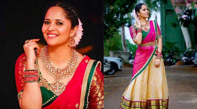Actress-Anasuya-Traditional-Saree-Photos