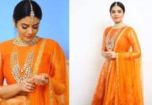 Actress Sreemukhi Traditional GlamorousStills