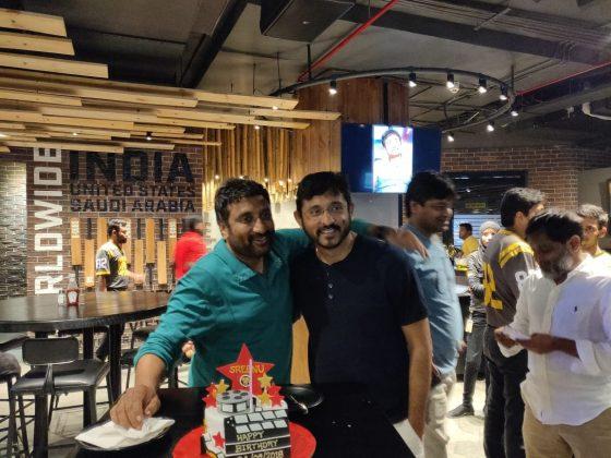Amar Akbar Anthony Team Celebrating Sreenu Vaitla Birthday Pics