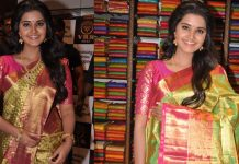 Anupama Parameswaran Inaugurates VRK Silks at Kukatpally