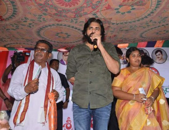 JanaSena Chief Pawan Visits West Godavari Kolleru Tour Pics (2)