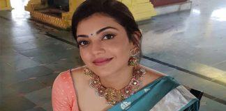 Kajal Aggarwal Traditional saree Pics
