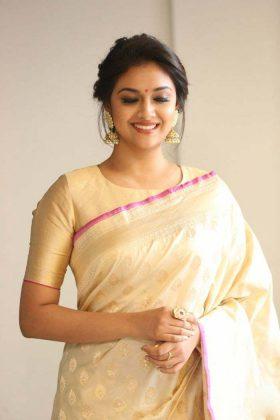 Keerthi Suresh Gorgeous look in Saree Photos