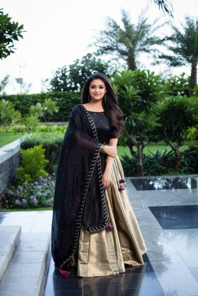 Keerthy Suresh at Pandemkodi 2 Promotions