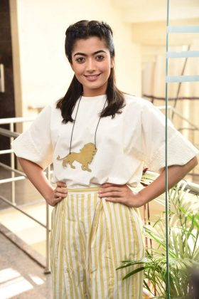 Rashmika Mandanna at Devadas Movie Press Meet