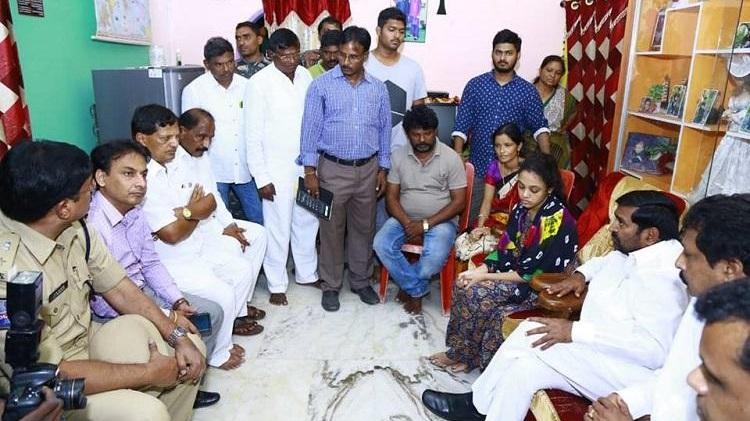 amrutha pranay telangana minister compensation
