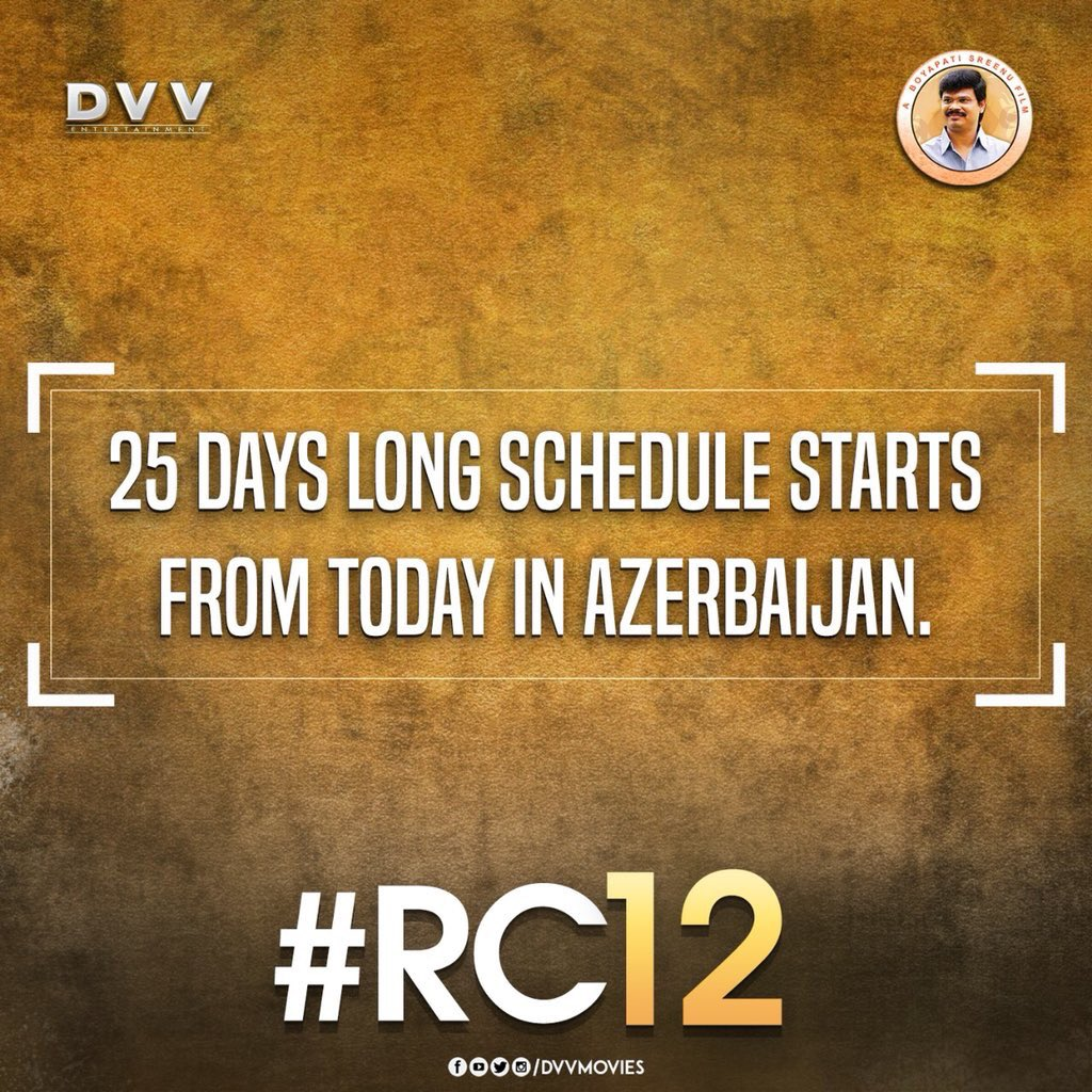 ram charan rc12 shooting begins