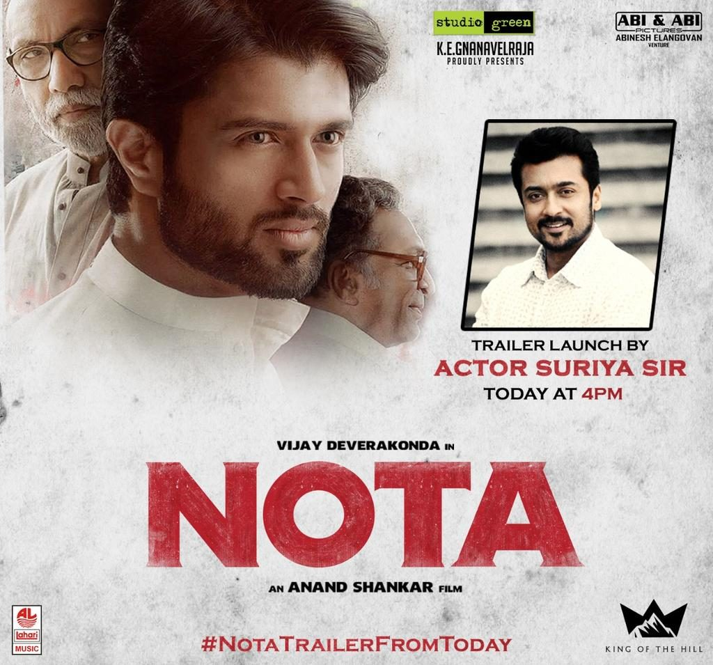 surya to launch nota trailer