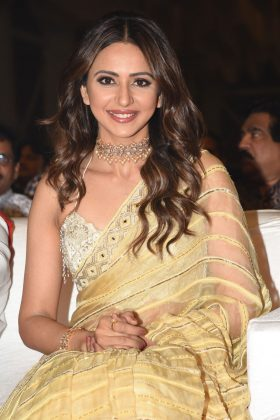 Actress Rakul Preet Singh at NTR Biopic Pre Release Event Photos