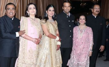 Celebs at Isha Ambani Wedding Reception Photos