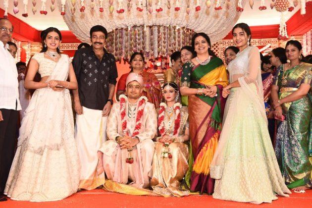 Dr.Rajasekhar Nephew Karthik's Wedding Photos