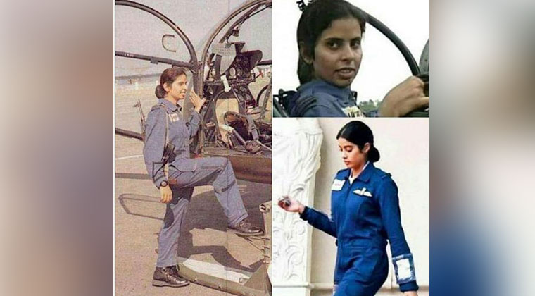 Janhvi Kapoor Look as IAF Officer Gunjan Saxena leaked
