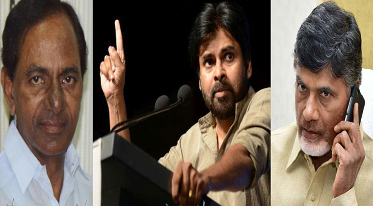 KCR and pawan kalyan return gift to Naidu
