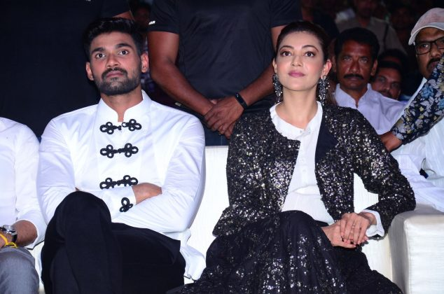 kajal aggarwal Bellamkonda Sai Sreenivas at Kavacham Audio Launch