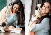 Keerthy Suresh Pet Hugging Stills