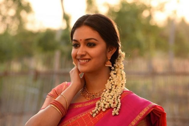 Keerthy Suresh Traditional Saree Stills