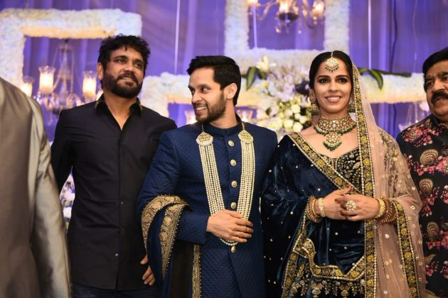 Nagarjuna Saina Nehwal Praupalli Kshayap Wedding Reception Photos (4)