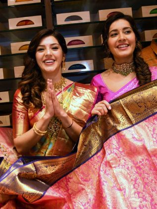 Raashi Khanna Mehreen at CMR shopping Mall Launch