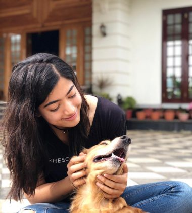 Rashmika Mandanna Fun Times With Her Cute Pets Photos
