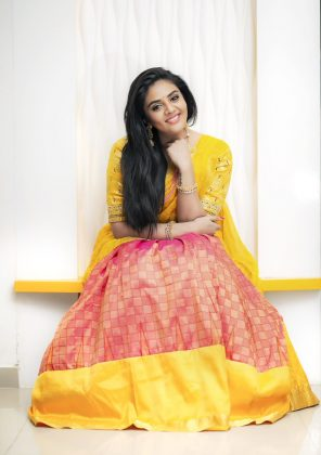 Sreemukhi Simple Traditional Fashionable Stills