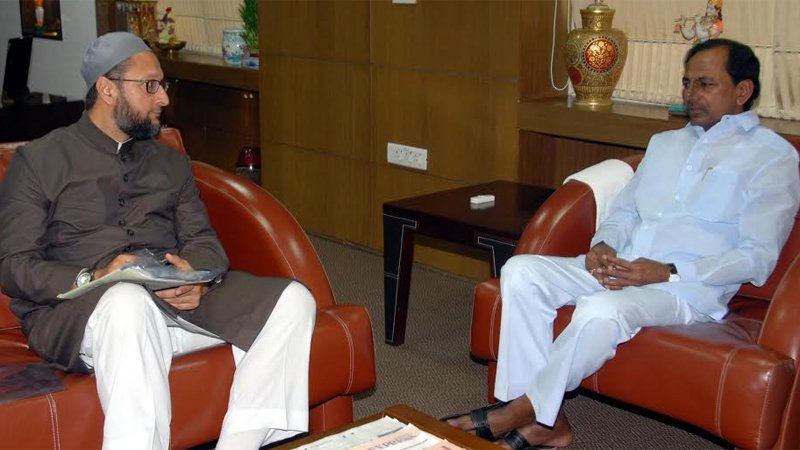 asududdin owaisi meets kcr ahead of Telangana elections result