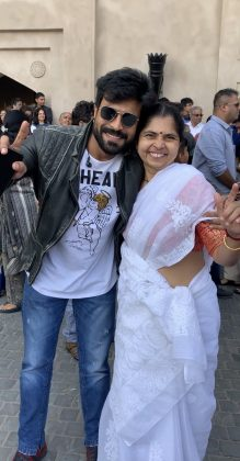 charan with rajamouli wife rama