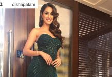 disha patani green traditional