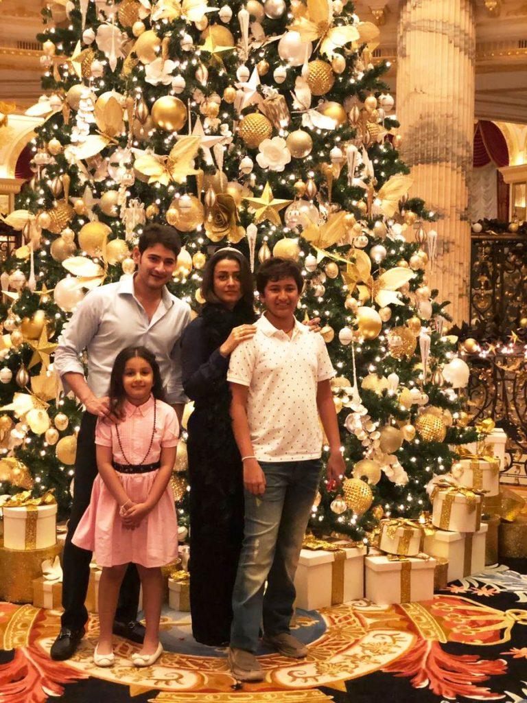 mahesh babu family new year wishes