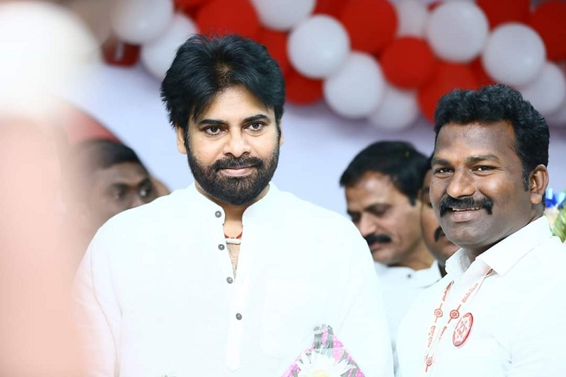 pawan kalyan new year celebration at janasena amaravati