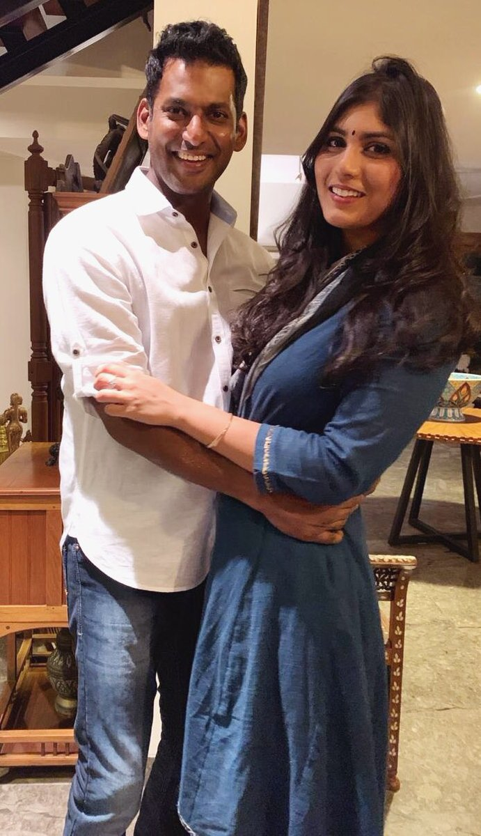 vishal engaged to anisha alla