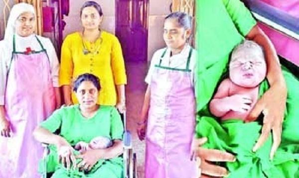 woman gives birth to baahubali boy in tadepalligudem ap
