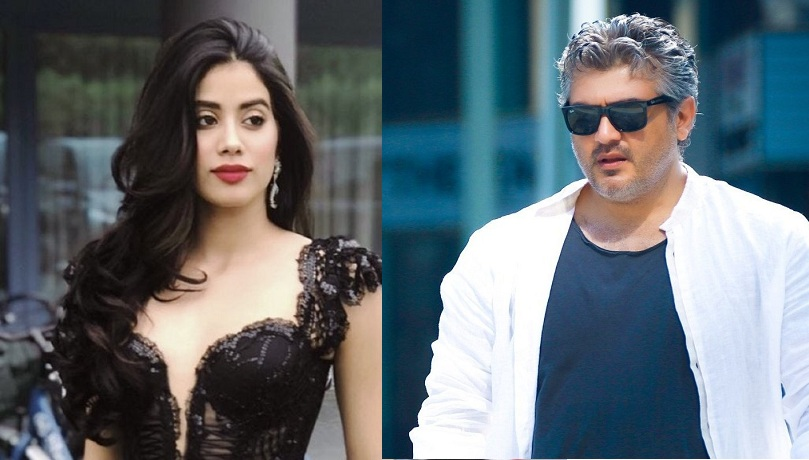 janhvi kapoor with thala ajith