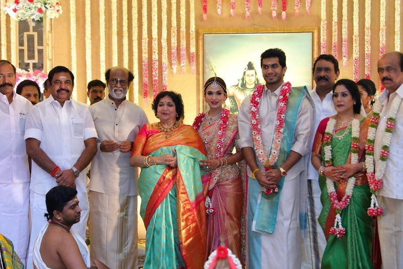 rajinikanth daughter marriage pic